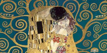 Gustav Klimt Kiss, Detail (blue Variation) Giclee on Canvas