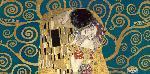 Gustav Klimt Kiss, Detail (blue Variation)