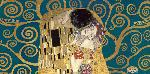 Gustav Klimt Kiss, Detail (blue Variation)
