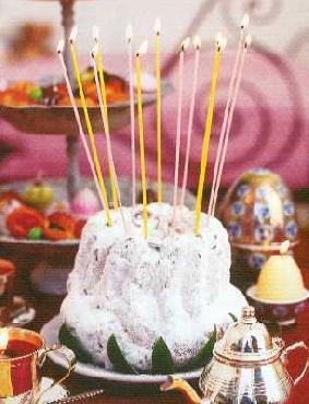 Point A La Ligne Fun French Slim Party Cake Candles  1/8 x 8  Dk Pink