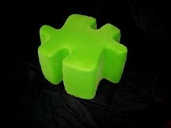 Meri Berghauer Green Puzzle Foot Stool