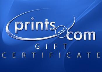 Prints. com $10 Gift Certificate