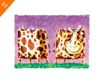 Nazran Govinder Funky Cow Canvas LAST ONES IN INVENTORY!!