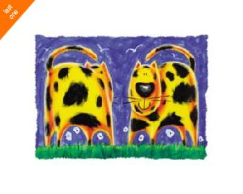 Nazran Govinder Funky Kitty Canvas LAST ONES IN INVENTORY!!