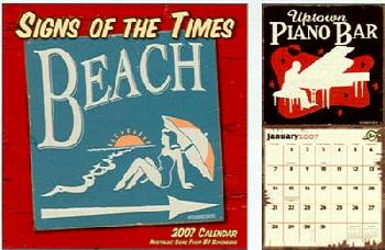 BJ Schonberg Signs of the Times 2007 Wall Calendar