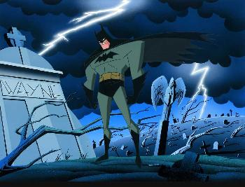 Bruce Timm And Vengence Begins Hand Painted Cel