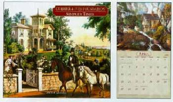 Currier and Ives Simpler Times 2008 Calendar