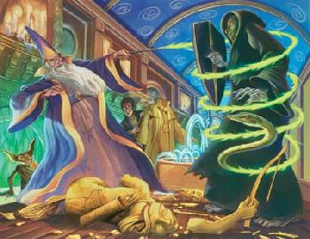 Mary Grandpre Harry Potter - Dueling Wizards Giclee on Paper
