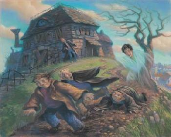 Mary Grandpre Harry Potter - Cloak of Invisibility Giclee on Paper - Part of Portfolio of 7 Prints