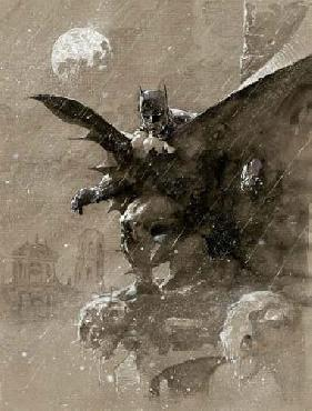 Jim Lee Batman Over San Prospero Giclee on Canvas