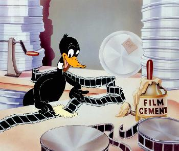 Warner Brothers Daffy Film Editor Giclee on Paper