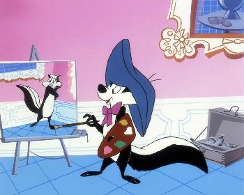 Warner Brothers Pepe Le Pew at the Louvre Giclee on Paper