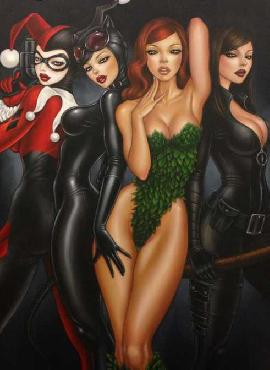 Mimi Yoon Bad Girls Giclee on Canvas