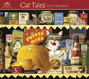 Charles Wysocki Cat Tales 2010 Wall Calendar