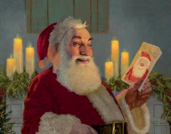 Daniel Horne A Gift for Santa (Detail) Open Edition Canvas