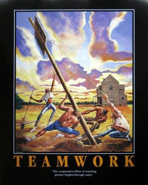Ernie Barnes Teamwork (Rising Expectations) Open Edition on Paper