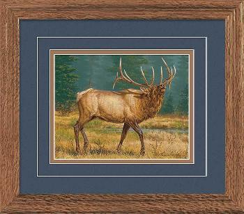Lee Kromschroeder Numero Uno - Elk Framed Deluxe Open Edition