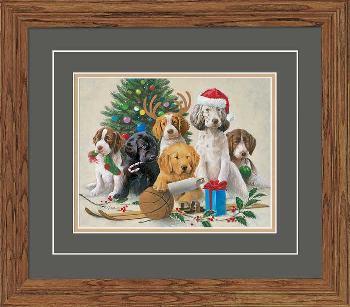 James Killen Holidaze - Puppies Framed Open Edition