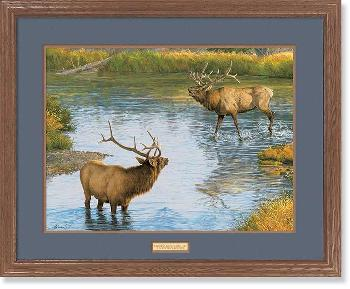 Lee Kromschroeder Crossing Boundaries - Elk Framed