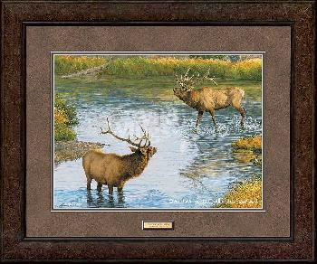 Lee Kromschroeder Crossing Boundaries - Elk Framed Open Edition