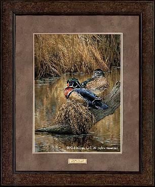 Rosemary Millette Backwaters - Wood Ducks Framed Premium