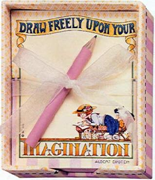 Mary Engelbreit Draw Freely Memo Box with Paper & Pencil