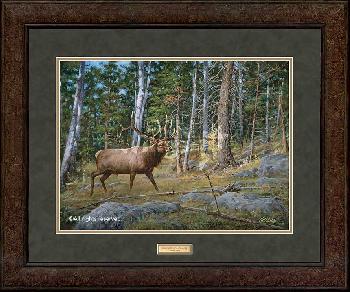 James Killen Deep Woods Monarch - Elk Framed Deluxe Open Edition