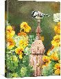 Bourdet Chickadee & Nasturtiums Open Edition Wrapped Canvas