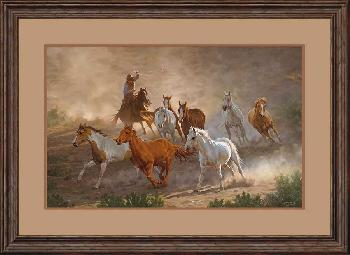Chris Cummings Tumalo Round Up Framed Remarque on Paper