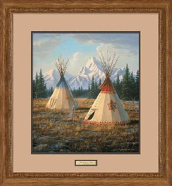 Jim Hautman Cheyenne Village Framed
