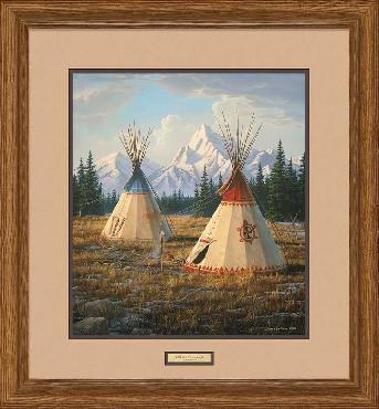 Jim Hautman Cheyenne Village Framed Remarque on Paper