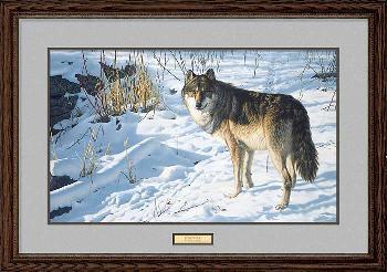 Jim Hautman Lone Wolf Framed