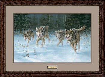 Jim Hautman On the Move - Wolves Framed