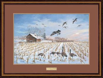 James Killen Gathering - Canada Geese Framed Remarqued