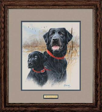 James Killen Legacy - Black Labs Framed