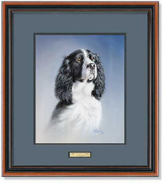 James Killen Portrait - Black and White Springer Framed Signed Open Edition Remarqued on Paper