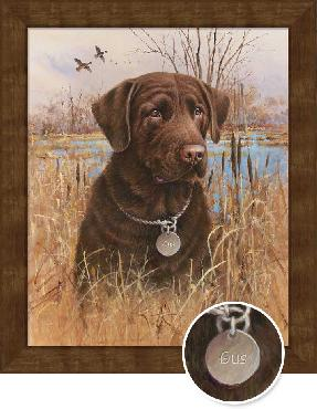 James Killen Top Dog - Chocolate Lab Framed Open Edition on Canvas
