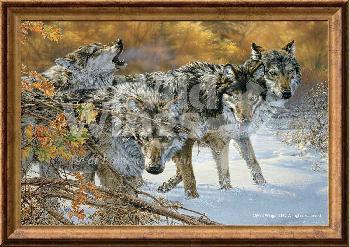 Lee Kromschroeder Body Language - Wolves Framed Signed Open Edition Canvas