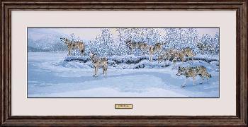 Lee Kromschroeder On the Move - Wolves Framed
