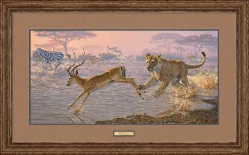 Lee Kromschroeder Pandemonium - Lion Framed
