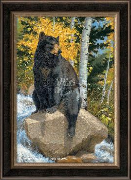 Lee Kromschroeder Paws that Refreshes - Bear Framed Giclee on Canvas