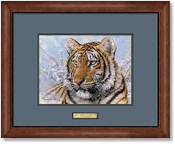 Lee Kromschroeder Spots and Stripes - Siberian Tiger Framed Signed Open Edition on Paper