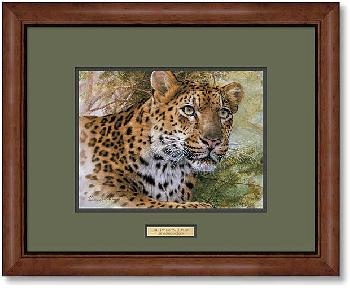 Lee Kromschroeder Spots and Stripes - Leopard Framed Signed Open Edition on Paper