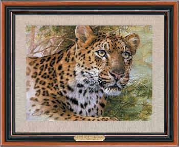 Lee Kromschroeder Spots and Stripes - Leopard Framed Giclee on Canvas