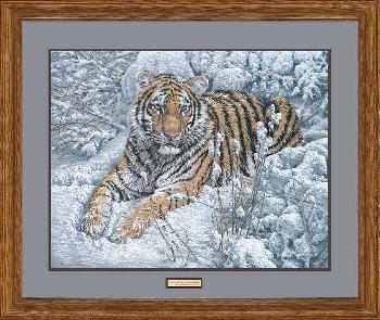Lee Kromschroeder Snow Queen - Tiger Framed