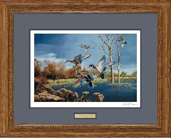 David Maass Autumn Haven - Wood Ducks Framed Signed Open Edition