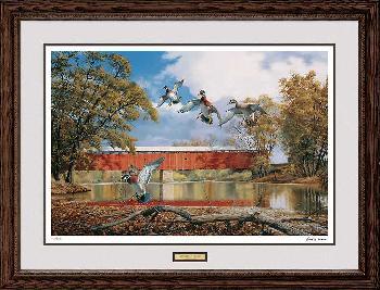 David Maass Eldean Bridge - Wood Ducks Framed