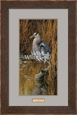 Rosemary Millette Blue Heron Framed
