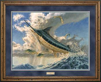 Don Ray Flying Fish - Marlin Framed
