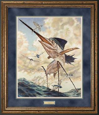 Don Ray Flying High - Sailfish Framed Artist